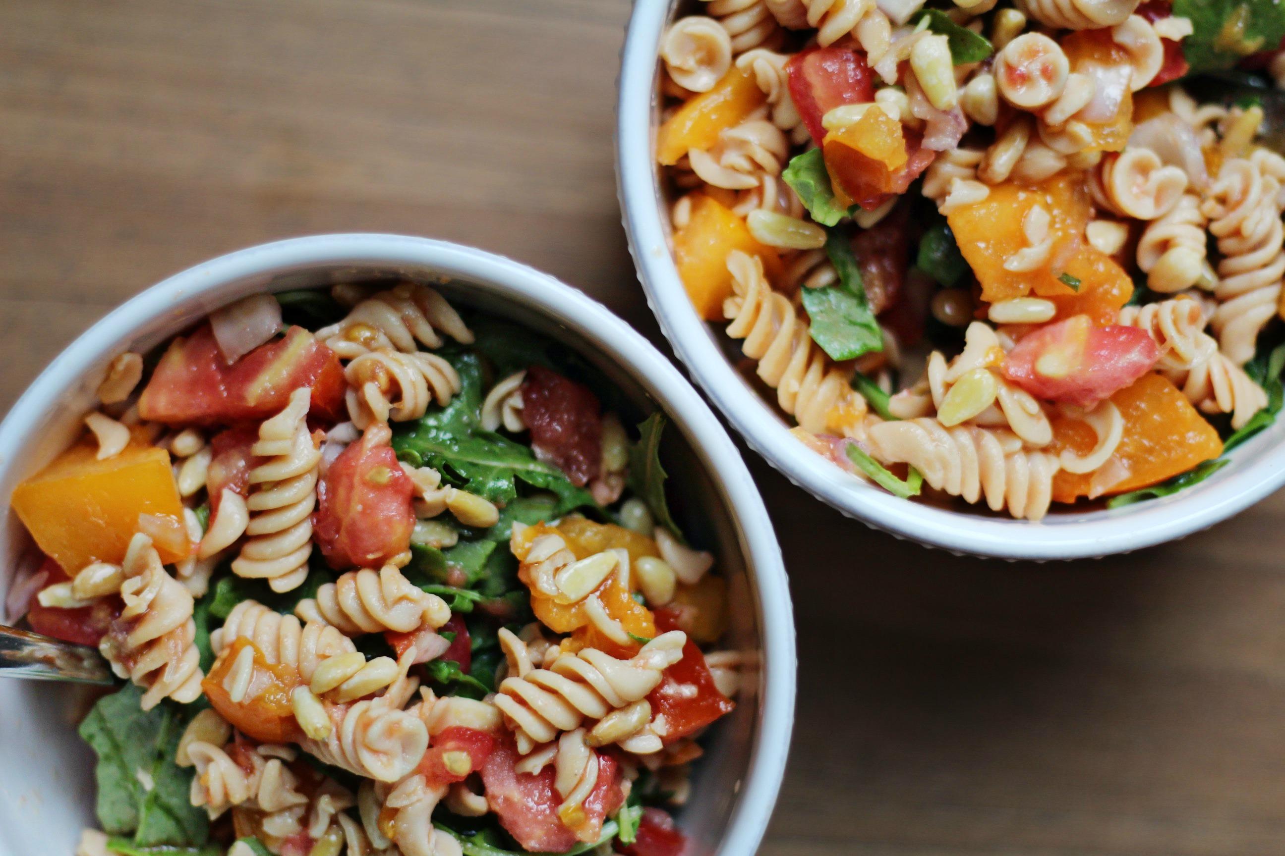 Arugula Lentil Pasta Salad - BeingBrigid