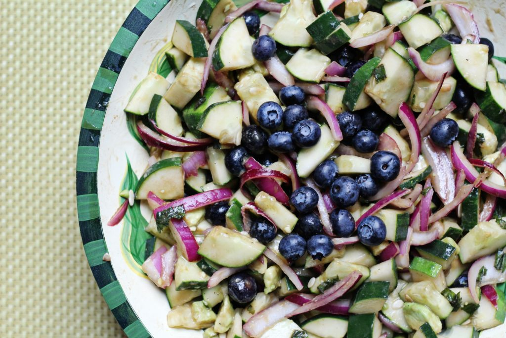 Cucumber & Cashew Mint Salad