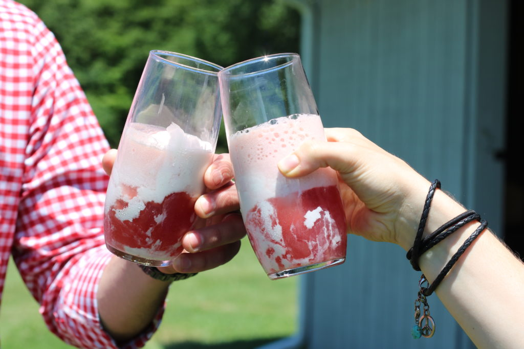 Kombucha Floats for the 4th of July by BeingBrigid