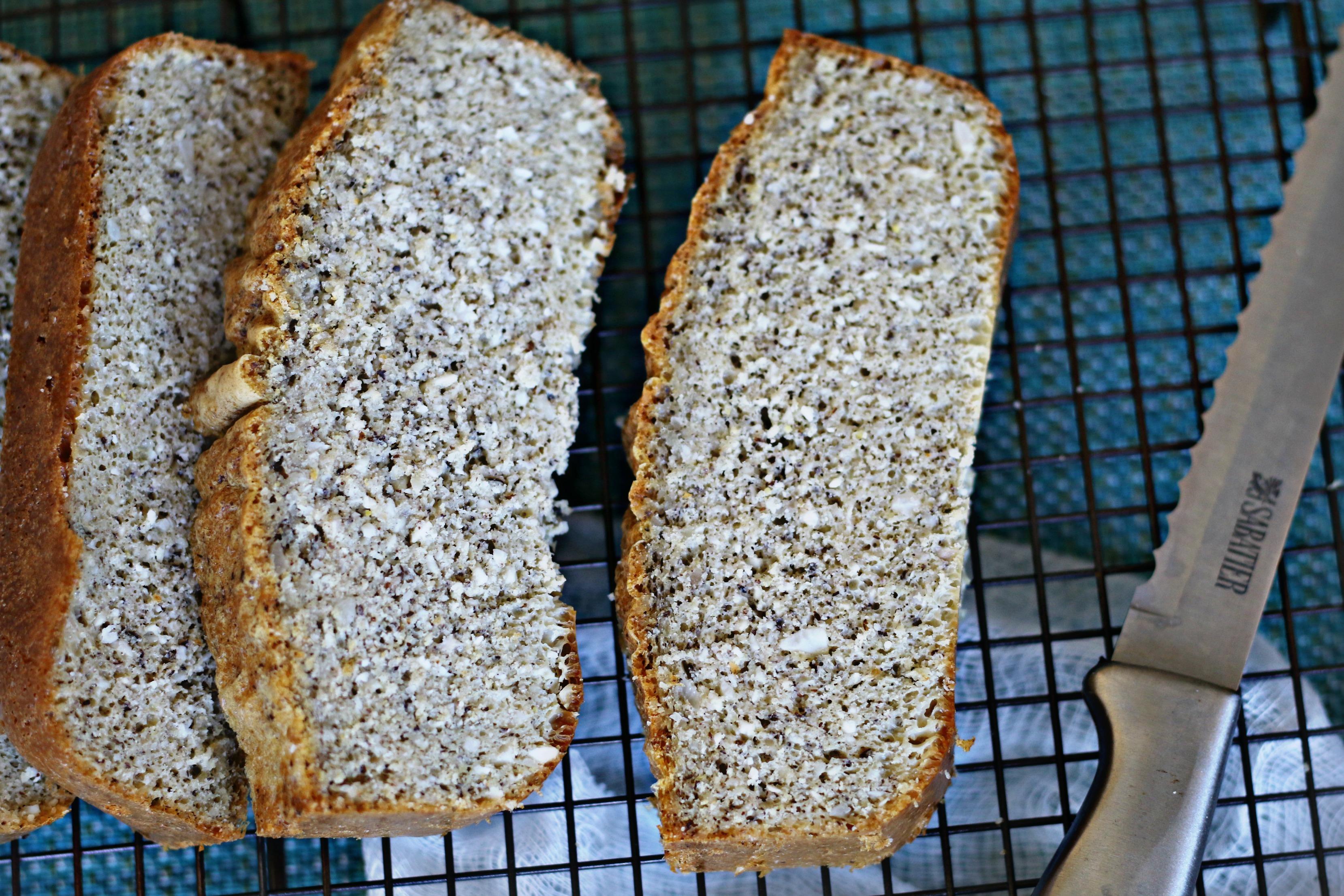 Keto Macadamia Bread by BeingBrigid