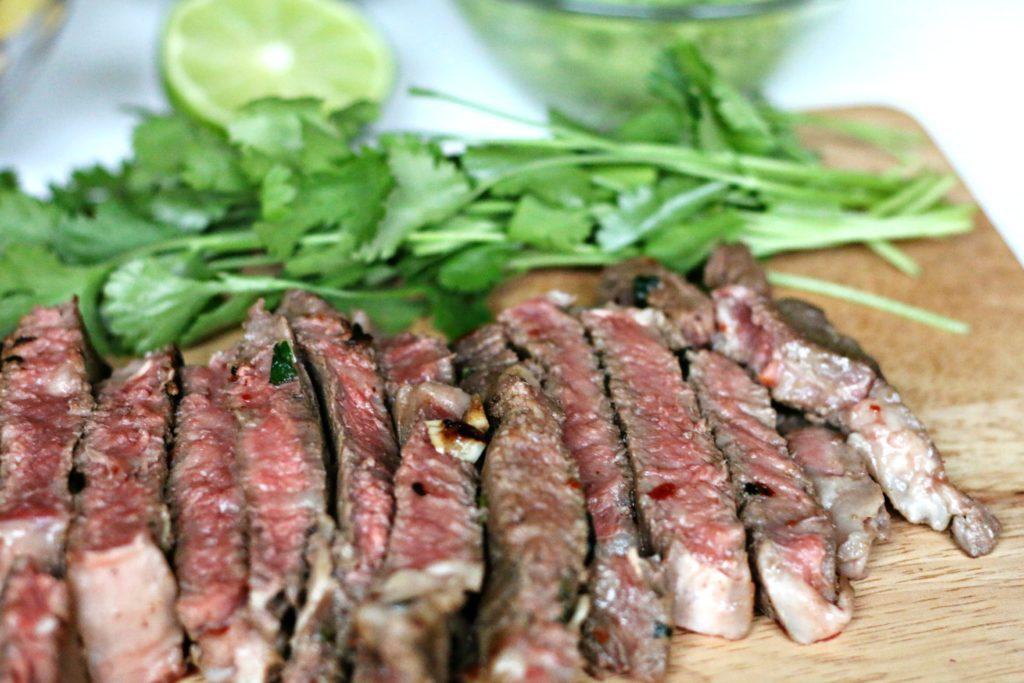 Grass-fed Beef Fajitas via Brigid Titgemeier from BeingBrigid Functional Nutrition