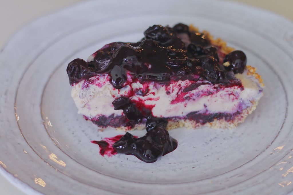 BeingBrigid Pegan Blueberry Ice Cream Pie